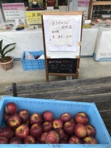 小布施 直売所で 梨 りんご 販売